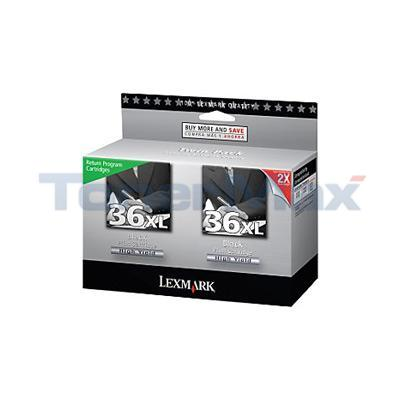 LEXMARK X3650 RP NO. 36XL PRINT CART BLACK HY